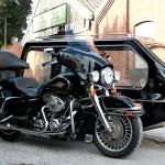 Harley Motorcycle hearse